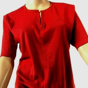 LAUREN RALPH LAUREN Short Sleeve 100% Cotton Top